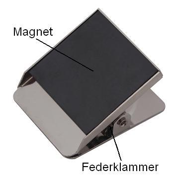 57mm Chrom Magnetclip Magnetklemme Magnet Pinwand Klammer Pizzakarton Büro