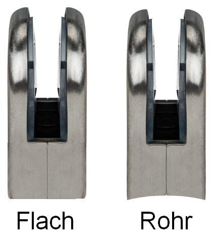 feste Klemmhalterung flache R/ückseite verchromt f/ür Gel/änder Treppengel/änder 8-10mm Edelstahl 304 Glasklemme Outtybrave 8PCS Glasklemme
