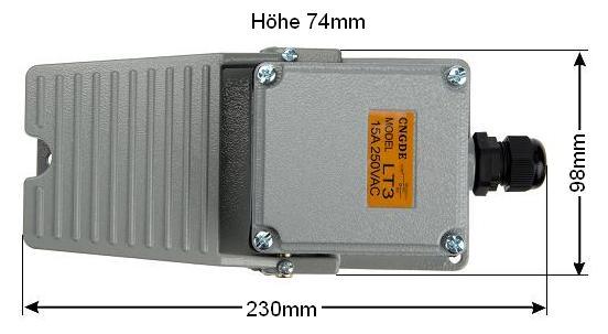 Fußschalter LT3 ohne Schutzhaube Trittschalter Fußpedal Schalter Fernschalter
