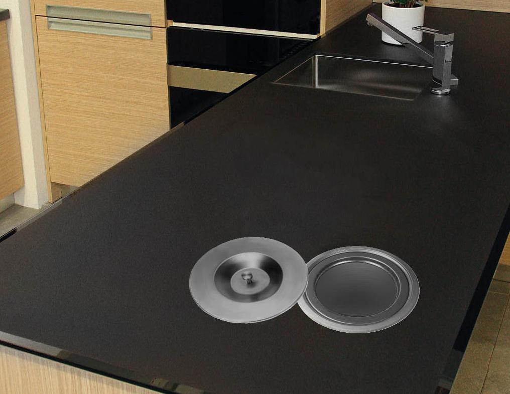 7 0l edelstahl einbau abfalleimer k chen arbeitsplatte m lleimer abfallsammler ebay. Black Bedroom Furniture Sets. Home Design Ideas