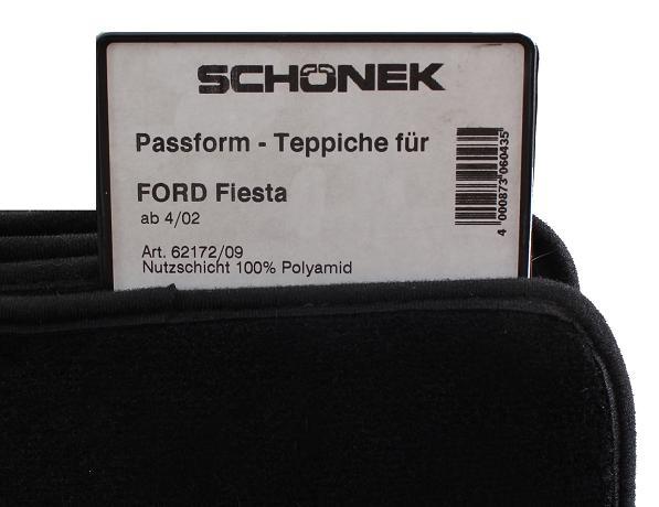 Fußmatten bordeaux Ford Fiesta JH1//JD3 2001 bis 2005 Automatten Autoteppiche