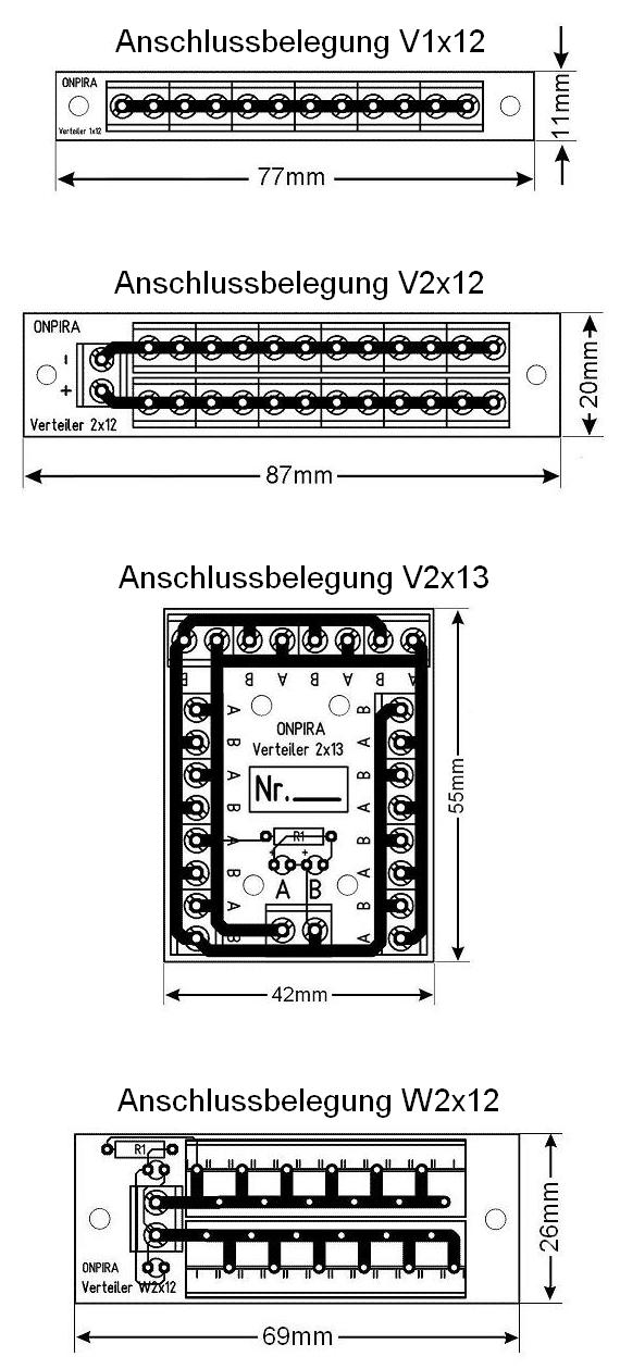 onpira stromverteiler verteiler 8a belastbar modellbau gleich und wechselstrom. Black Bedroom Furniture Sets. Home Design Ideas