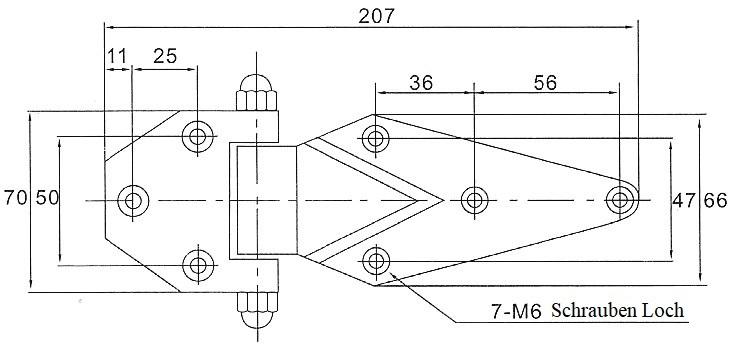 Scharnier Kühlhaus Kühlkoffer Kühlzelle Gefrierschrank Türbeschlag Türe Türband